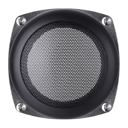meshy: mesh of the speaker on a white background