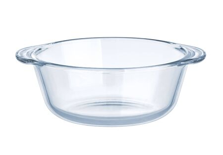 crystal bowl: Glassware. Empty salad bowl on a white background