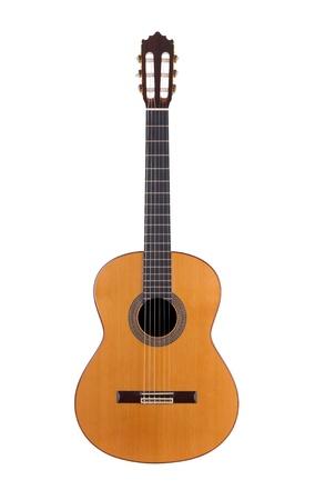 gitana: guitarra acústica sobre fondo blanco Foto de archivo