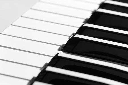 acoustically: piano keyboard