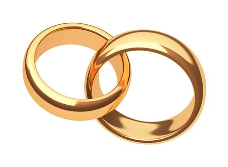 gold rings: gold rings on a white background Stock Photo