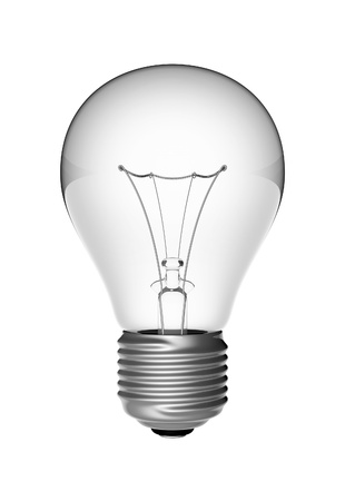 socle: electric lightbulb on white background