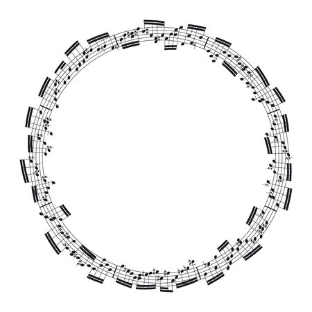 musical score: music notes in the form of a circle