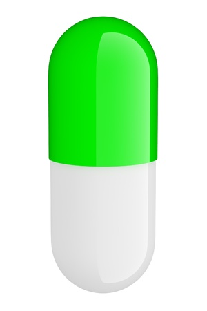 pill on a white background Stock Photo - 18423337
