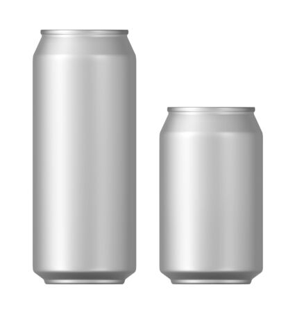 ml: beer cans on a white background