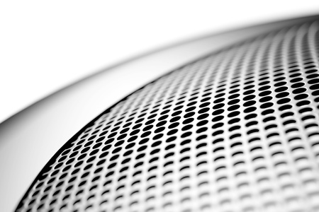 perforated surface: mesh background Stock Photo