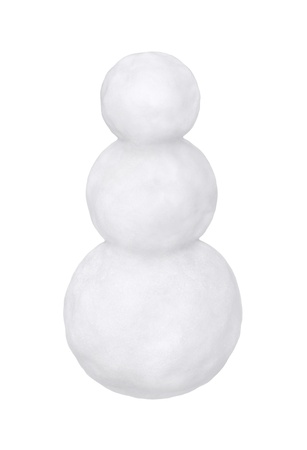 Blank snowman on a white background