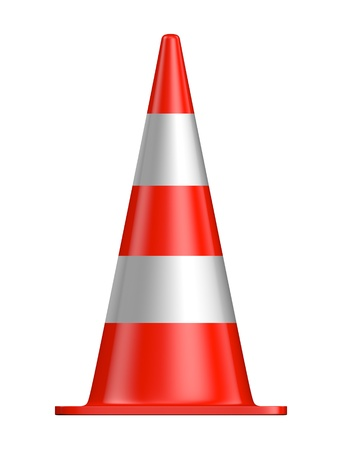 divert: traffic cone on a white background Stock Photo