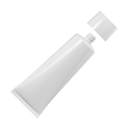 aftershave: Tube for cream or toothpaste or glue on a white background