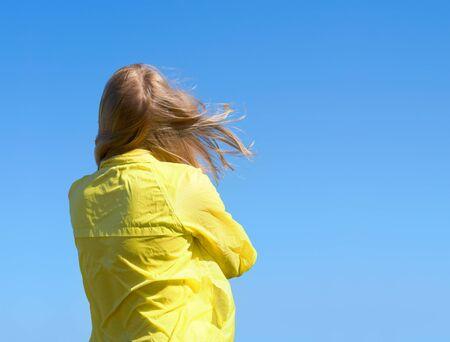 flyaway:  Hair girls flyaway in the wind