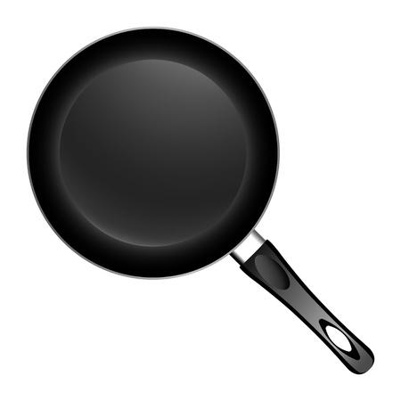 skillet: Pan on white background  illustration
