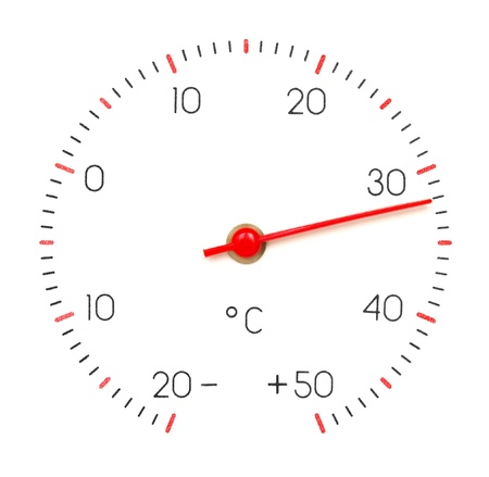 fervour: Arrow of the thermometer shows  32