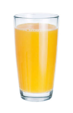 Fresh juice in glass on white background. The symbol of a healthy lifestyle photo