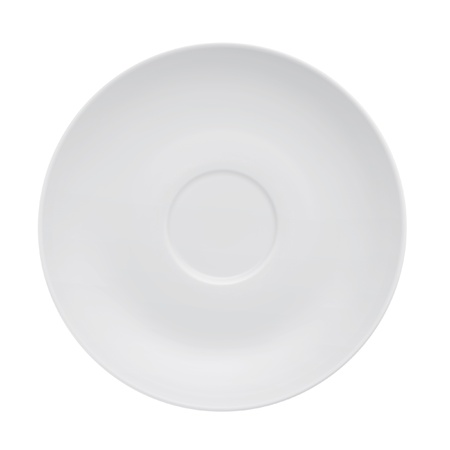 dish disk: saucer on a white background