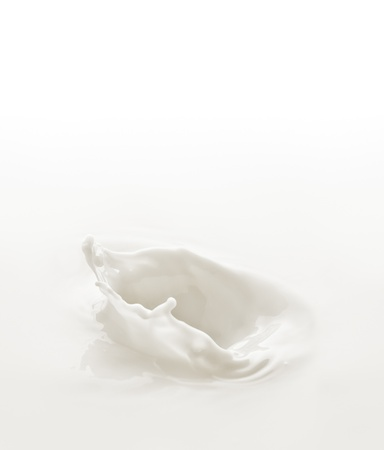 Milk. Template for the falling in the milk of berry or a piece of fruit 版權商用圖片