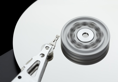 rotates: Hard disk drive rotates at high speed