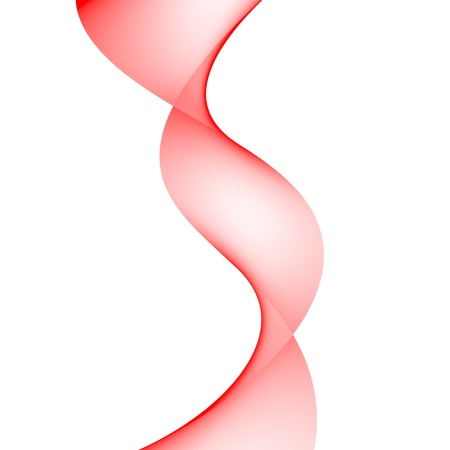Red spiral on a white background