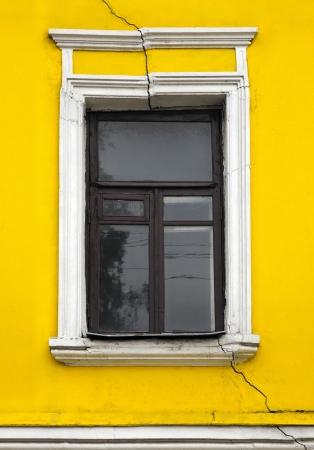detritus: window Stock Photo