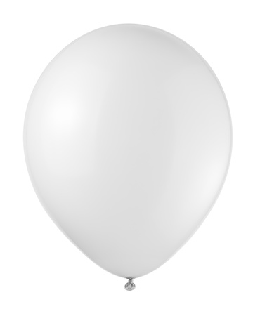 white balloon soaring on a white background Standard-Bild