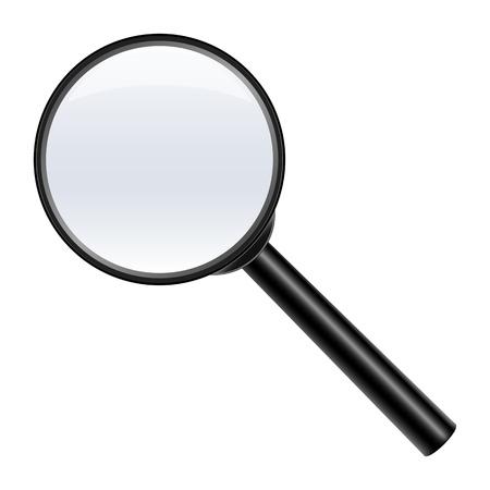 lupe: magnifying glass on white background,  illustration