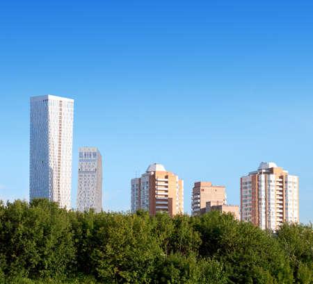 hypothec: apartment house against the blue sky
