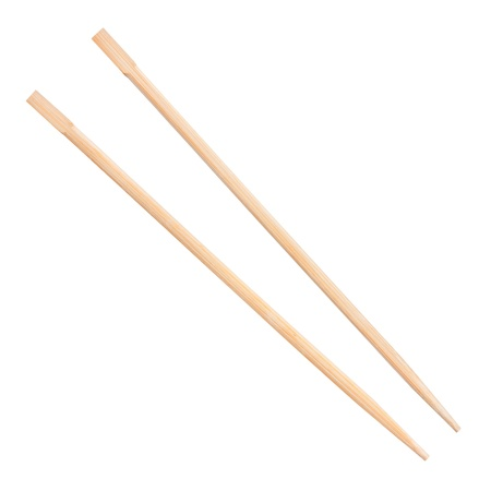 chopsticks on a white background Stock Photo
