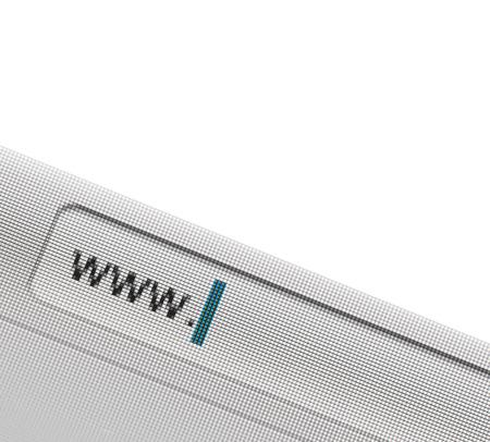 address bar: address bar on the screen