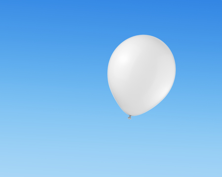 White balloon flying in the sky photo