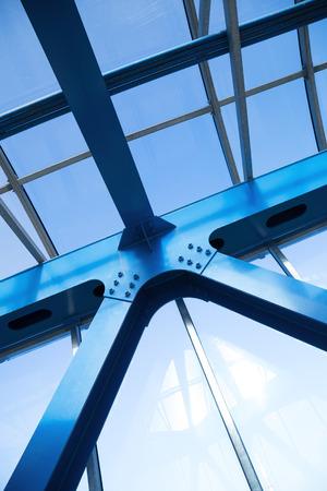 steelwork: Steel beams. Fragment modern construction.
