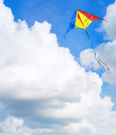 soaring: Kite flying in the sky