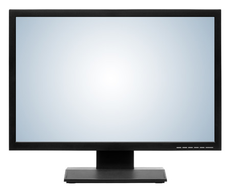 lcd monitor: Computer display or lcd tv on white background
