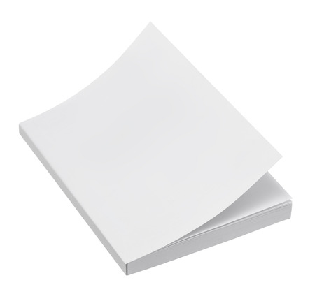 paperback: Blank book cover on white background