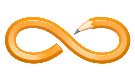 bend: Pencil in the form of an infinity sign