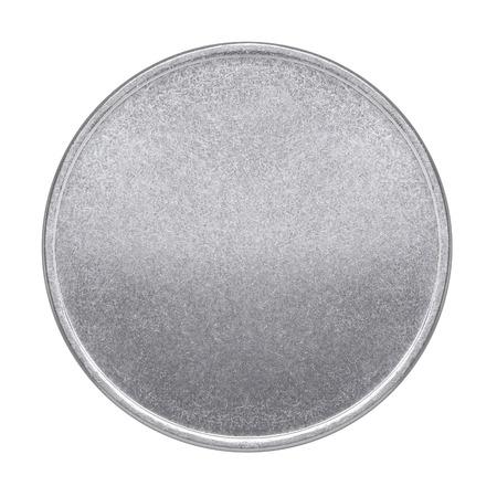 흰색 배경에 빈 동전이나 메달