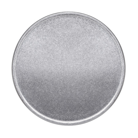 Blank coin or medal on a white background