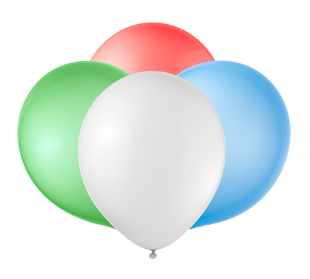 Balloons on a white background. photo