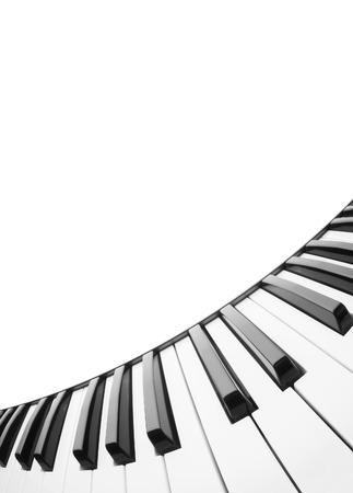 テキストのフィールドを持つピアノの鍵盤の抽象的な背景 写真素材