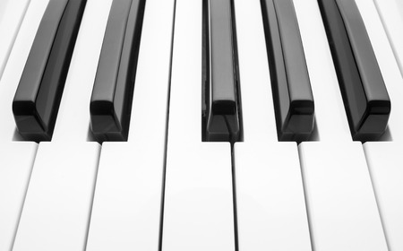 acoustically: Piano keyboard. Abstract background.