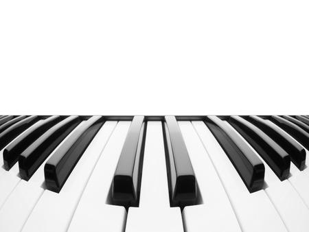 Piano toetsenbord. Samenvatting met een veld voor tekst