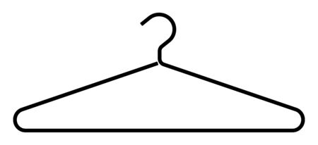 Hanger. Vector silhouette on a white background Vector