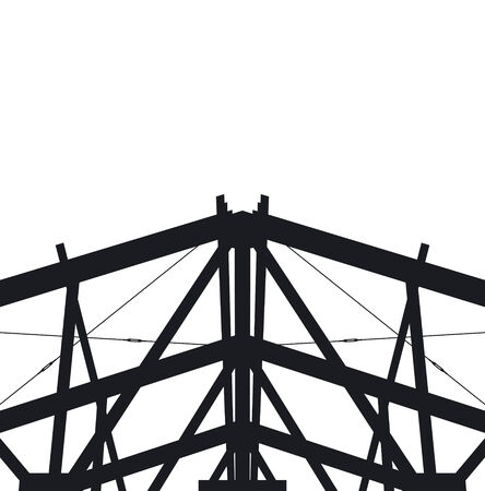 Fragment metal framework on a white background.