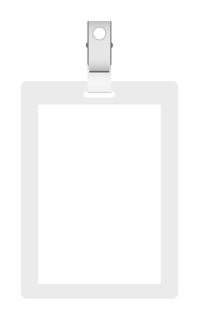 cardholder: Blank badge