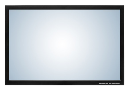 led tv: Computer display or lcd tv on white background