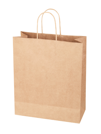 paper bag for shopping on white background