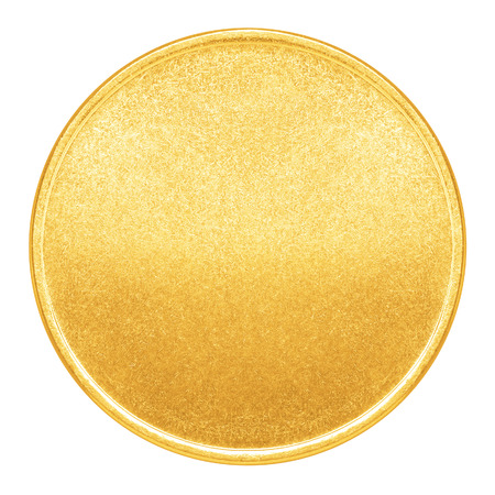 blank empty: Blank template for gold coin or medal with metal texture