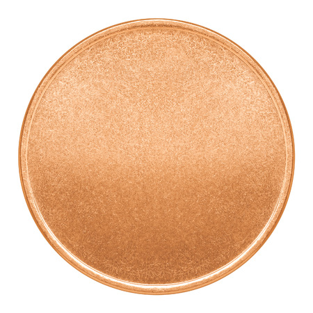 copper coin: Blank template for copper coin or medal with metal texture