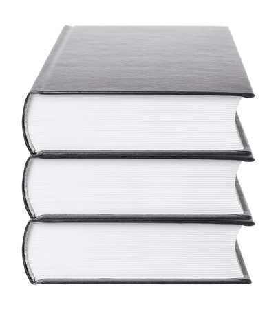 stacked books: stack of books on a white background