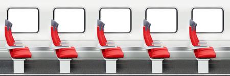 Passenger chairs in a modern train Reklamní fotografie