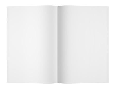 blank magazine: blank magazine or book on white background