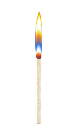 glow stick: burning match on a white background Stock Photo